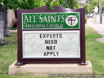 churchsign - no experts